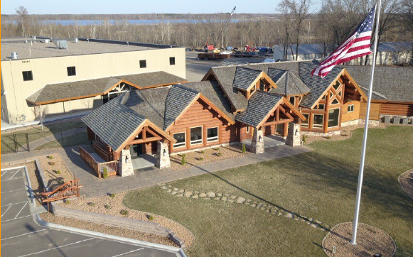northwoods themed headquarters_columbus minnesota_premier commercial properties